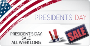 Presidents Day Sale on all e-cigarette and vaporizer purchases!