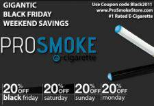 Biggest Black Friday & Cyber Monday E-Cigarette Specials Available!